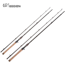 Heavy Baitcasting Casting Carbon fishing rod 6'8 2.05m H 2 Sections jigging rod Freshwater Catfish Snakehead Fishing Tackle