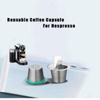 24 pçs café nespresso vagens de aço inoxidável recarregáveis capsulas nespreso reutilizável copo de filtro de café novo diy ferramentas de café