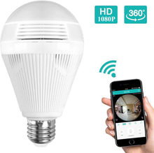KERUI LED Light 960P Wireless Panoramic Home Security WiFi CCTV Fisheye Bulb Lamp IP Camera 360 Degree Home Security Burglar(China)
