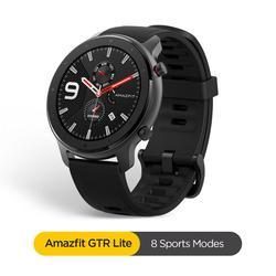 В наличии, Global Amazfit GTR, 47 мм, Lite, 24 дня, батарея, умные часы, водонепроницаемые, умные часы для Android ios phone, 8 видов спорта
