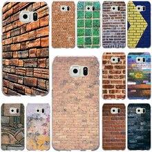 Carcasa de teléfono móvil suave con textura de pared para Samsung Galaxy Note 2 3 5 8 9 S2 S3 S5 mini S6 S7 S8 S9 S10 Edge Plus Lite