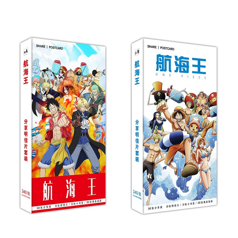 340 Pcs/Set Japanese Anime One Piece Postcard/Greeting Card/Message Card/Christmas And New Year Gifts
