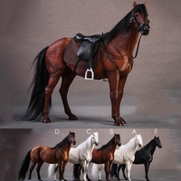 JXK 1/12 Scale JXK013 Hannover Horse Warmblood Anime Statue Palm Figure Toys W/Harness Fit 6'' Figure doll