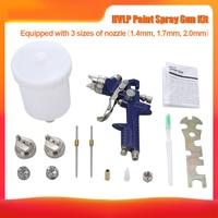 1.4mm 1.7mm Professional HVLP Air Spray Gun Paint Sprayer Gravity Feed Airbrush Kit Car Furniture Painting Spraying Tool H 827