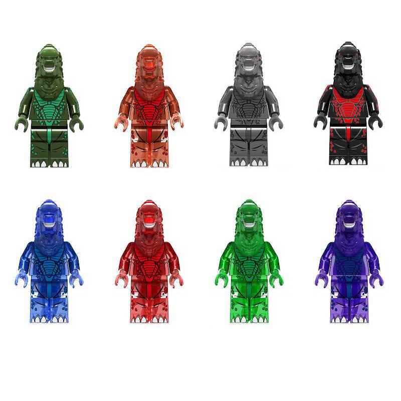 Juguetes de bloques de construcción Gojira de 8 piezas para niños