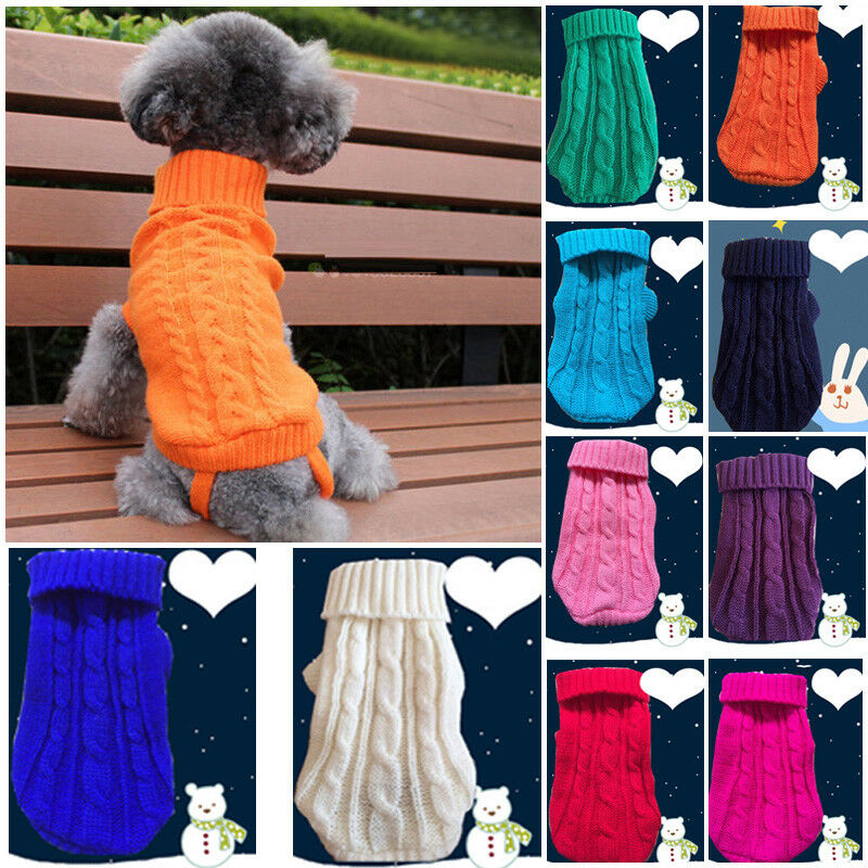 Dog Clothes For Small Dog Jersey Cat Sweater Clothing For Pet Cats Chihuahua Warm Dogs Jersey Autumn And Winter Sweater