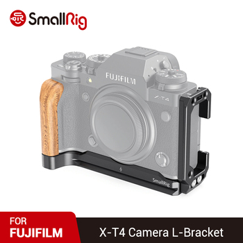 SmallRig XT4 Camera L Plate Adjustable L Bracket for FUJIFILM X-T4 Camera Feature w/ Arca Style Quick Release Plate 2811 smallrig quick release l plate l bracket for canon eos 6d camera vertical shooting bracket w arca style base side plate 2408