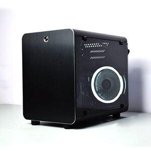Caja de Seguridad para PC, caja de refrigeración para jugadores, ordenador pequeño, Mini chasis de aire para placas ITX Vertical ATX, marco de aluminio
