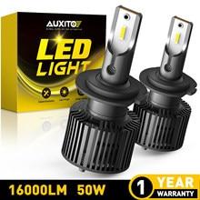AUXITO 2x Mini 50W H7 LED Car Headlight H1 H4 H11 H8 LED Car Lamps 9005 9006 HB3 HB4 LED Headlight Turbo 16000LM 12V 6000K White