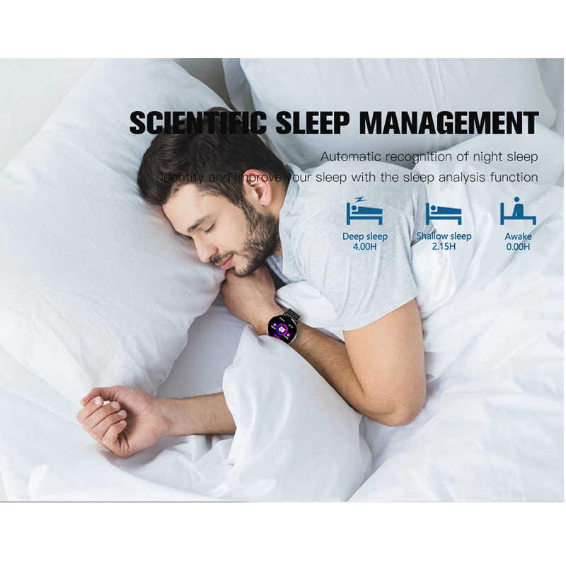 KAIHAI ساعة ذكية الزجاج المقسى مراقب معدل ضربات القلب Smartwatch الموسيقى ساعة توقيت شاشة تعمل باللمس للهاتف أندرويد IP67 مقاوم للماء