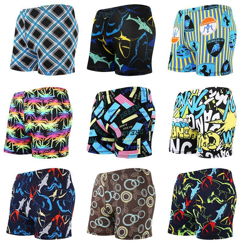 New Style Swimming Trunks Men's Boxer Loose And Plus-sized Swimming Trunks MEN'S Swimsuit Printed Beach Swimming Shorts