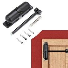 1 Set Black Zinc Alloy Automatic Spring Door Closer Generic Surface Heavy Door Closer Door Hardware