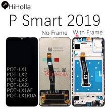 HiHolla عرض لهواوي P الذكية 2019 LCD شاشة تعمل باللمس محول الأرقام P الذكية 2019 LCD مع الإطار استبدال POT LX1 L21 LX3