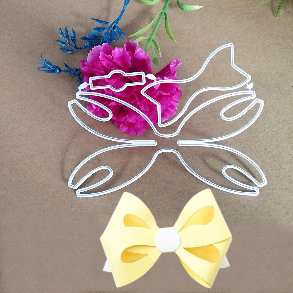 Bowknot Bows Metal Cutting Dies Stencils Ribbon DIY Scrapbooking Die Cuts Greeting Card Decor Embossing Folder Cut