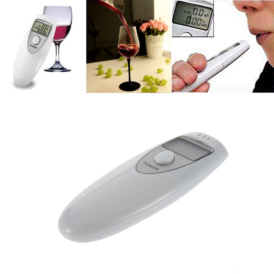 drop shipping  Professional Pocket Digital Alcohol Breath Tester Analyzer Breathalyzer Detector Test Testing PFT-641 LCD Display