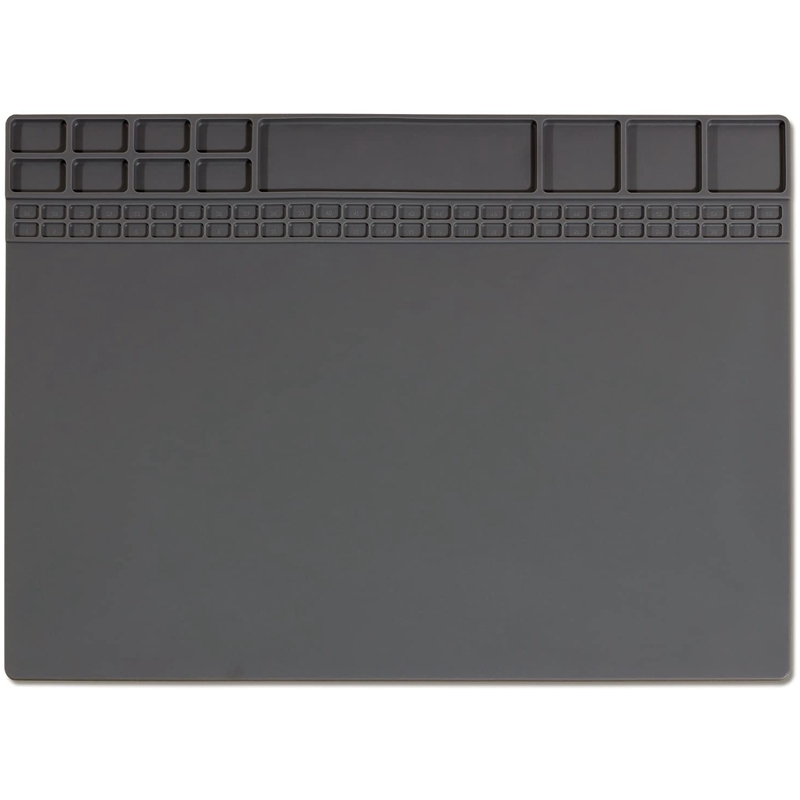 Soldering Mat Heat Resistant netic Silicone Electronic Repair Mat for Cellphone, Computer, Heat Insulation Pad