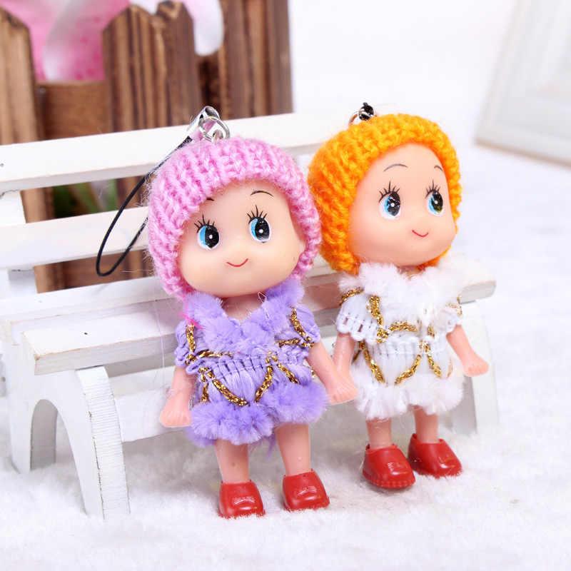 10PCS 8cm Confundido Bonecas brinquedos Do Bebê pequeno pingente de chave cadeias de crianças brinquedos de decoração para casa presentes da promoção presentes de Natal