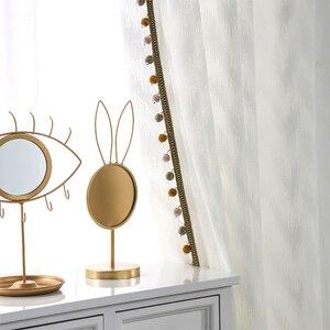 Image 4 - Nowoczesny styl fali tiul na firanki kurtyna czysta biała dekoracja willi transmisja światła zasłony do sypialni salon kuchnia