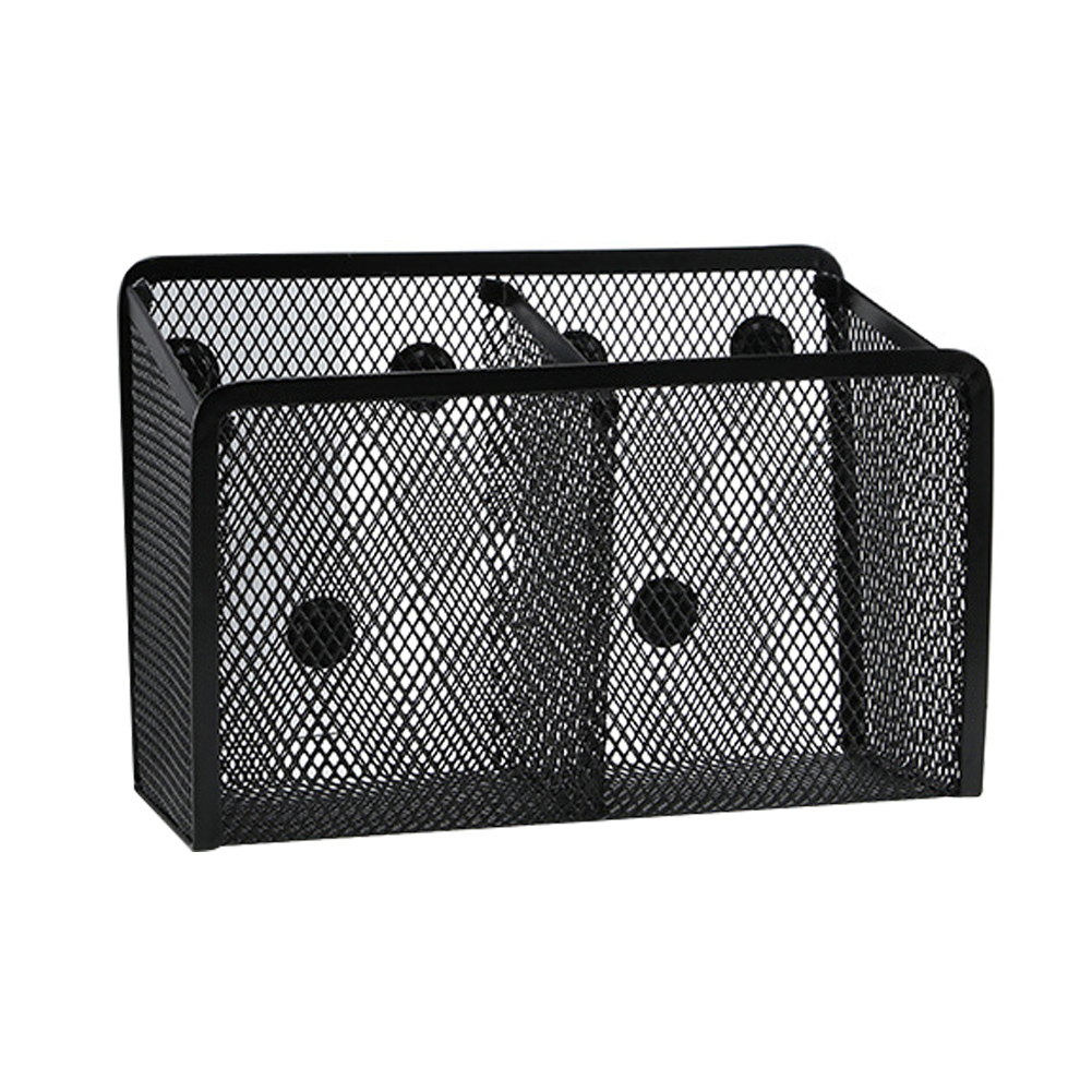 Magnetic Metal Mesh Pencil Holder Storage Basket Office Solid Household Organizer Desktop Students Space Saving Refrigerator