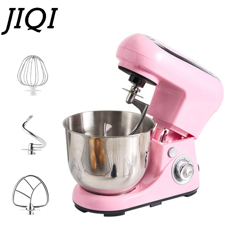 JIQI 5L/3.5L Stand Mixer Electric Chef Machine Mixing Blender Food Processor Kneading Cake Bread Dough Hook Whisk Egg Beater EU