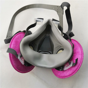 Image 3 - 3M 6200 gas mask Facepiece  Respirator  with 3M 2091 Filter Suit