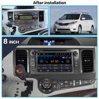Android 9 8 Core IPS Pantalla de coche REPRODUCTOR DE DVD navegador GPS grabador Multimedia para Toyota Sienna 2009 2010 - 2014 unidad principal ESTÉREO