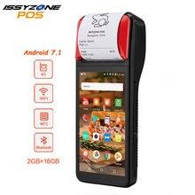 Принтер для чеков IssyzonePOS, 58 мм, сенсорный экран, КПК Android 7,1, портативный POS терминал, КПК, Wi Fi, Bluetooth, 4G, КПК с поддержкой OTG