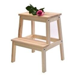 Nordic z litego drewna pedał ławki ławki drabiny Escalera Moderm Taburete Cocina pralka składany stołek Escabeau tanie w Taborety i drabinki od Meble na