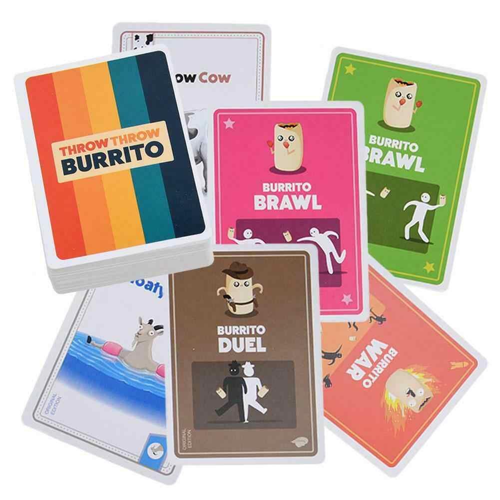 Throw Lancer Burrito une Dodge Ball Jeu de cartes édition originale Jeu Fête Neuf