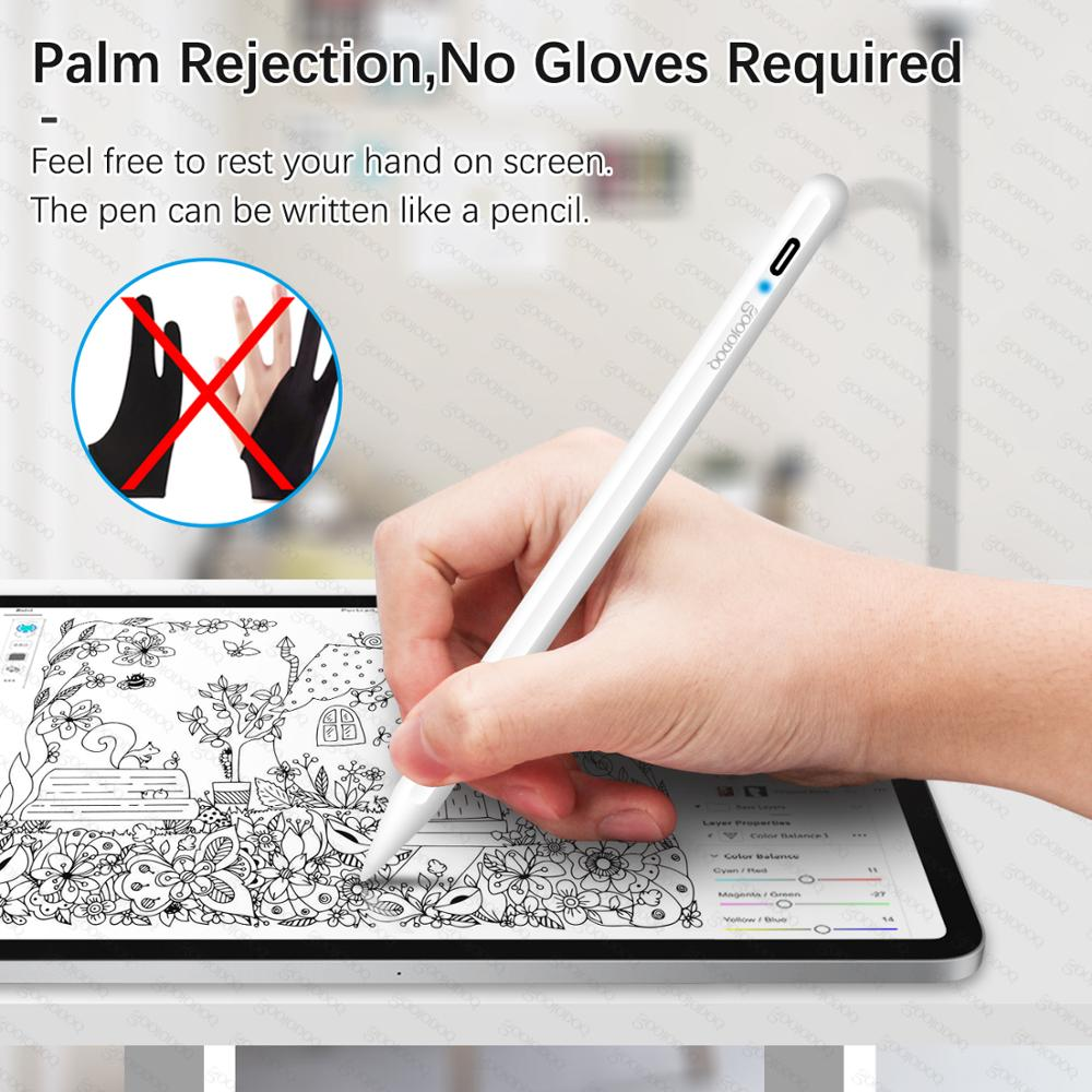 GOOJODOQ Pencil Stylus Pen for iPad Pro 2020 10.2 (7th Gen) 2019 /2018 / Air 3 with Palm Rejection for Apple Pencil 2 애플펜슬 1
