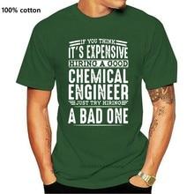 Impressão contratar bom engenheiro químico vs um mau camiseta homem e mulher algodão incrível lazer dos homens t camisa presente natural