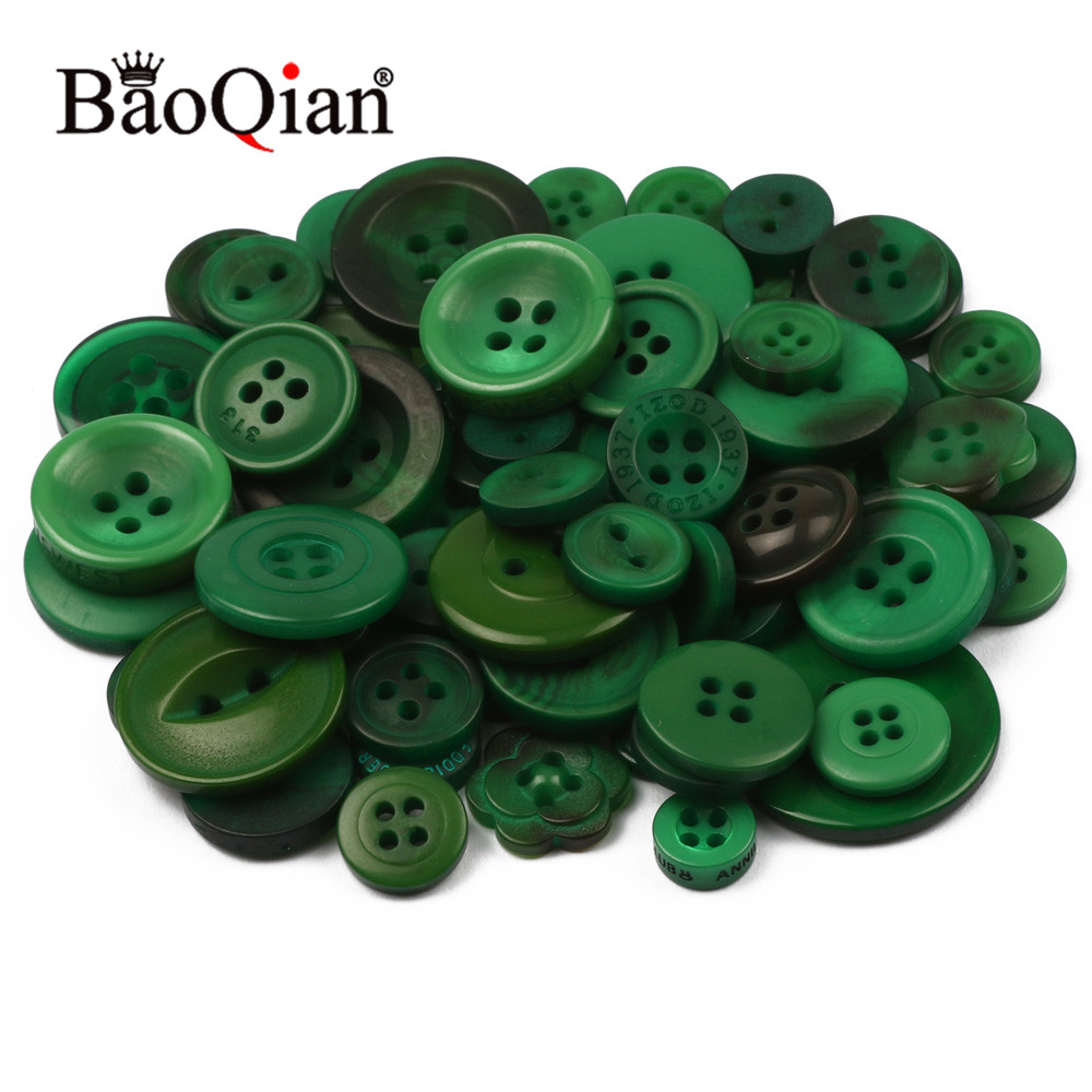 Honest Random Mix 30g 10-30mm Dark Green Round Resin Buttons Handmade Clothing Decoration Scrapbook Diy Home Sewing Crafts Accessories