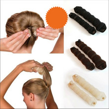 2019 Beauty Magic Hair Buns Stylish Twist Ring Former Shaper Donut Chignon Maker Clip Hair Curler Accessory 29(China)