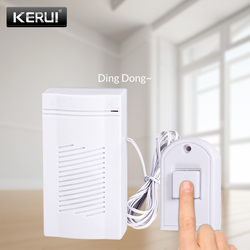 KERUI Wired Guest Welcome Doorbell High Quality Energy-saving Door Bell Simple Generous Home Store Security Doorbell Button