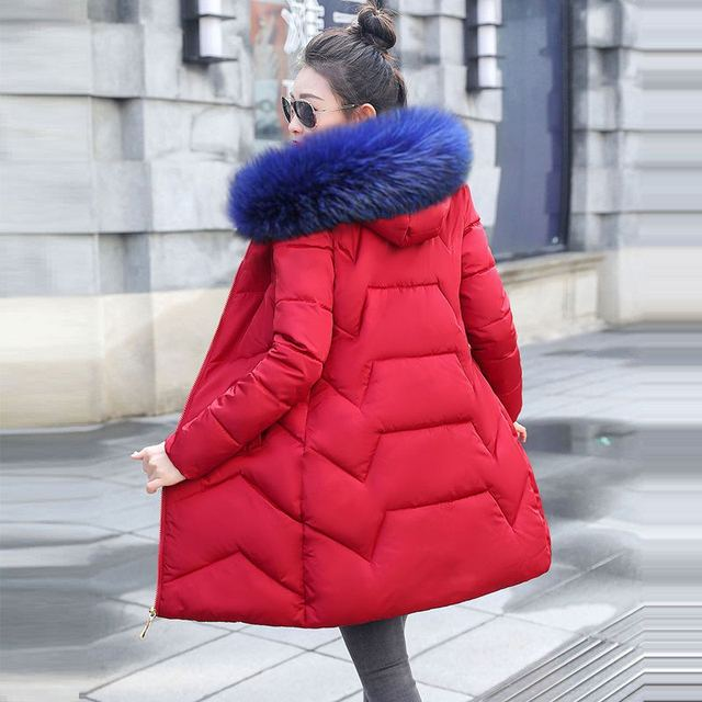 Winter Female Long Jacket 2019 Winter Coat Women Fake Fur Collar Warm Woman Parka Outerwear Down Jacket Winter Jacket Women Coat