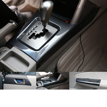 Lsrtw2017 Carbon Fiber Abs Car Central Control Gear Panel Steering Wheel for Subaru Forester 2008 2009 2010 2011 2012 for subaru forester 2009 2012 car trunk mat element nlc4608b13