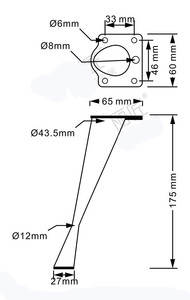 Image 3 - 4 stücke Silber Kippen Möbel Beine Metall Tisch Beine für Schränke Sofa Fuß Zink legierung Möbel Zubehör 175mm