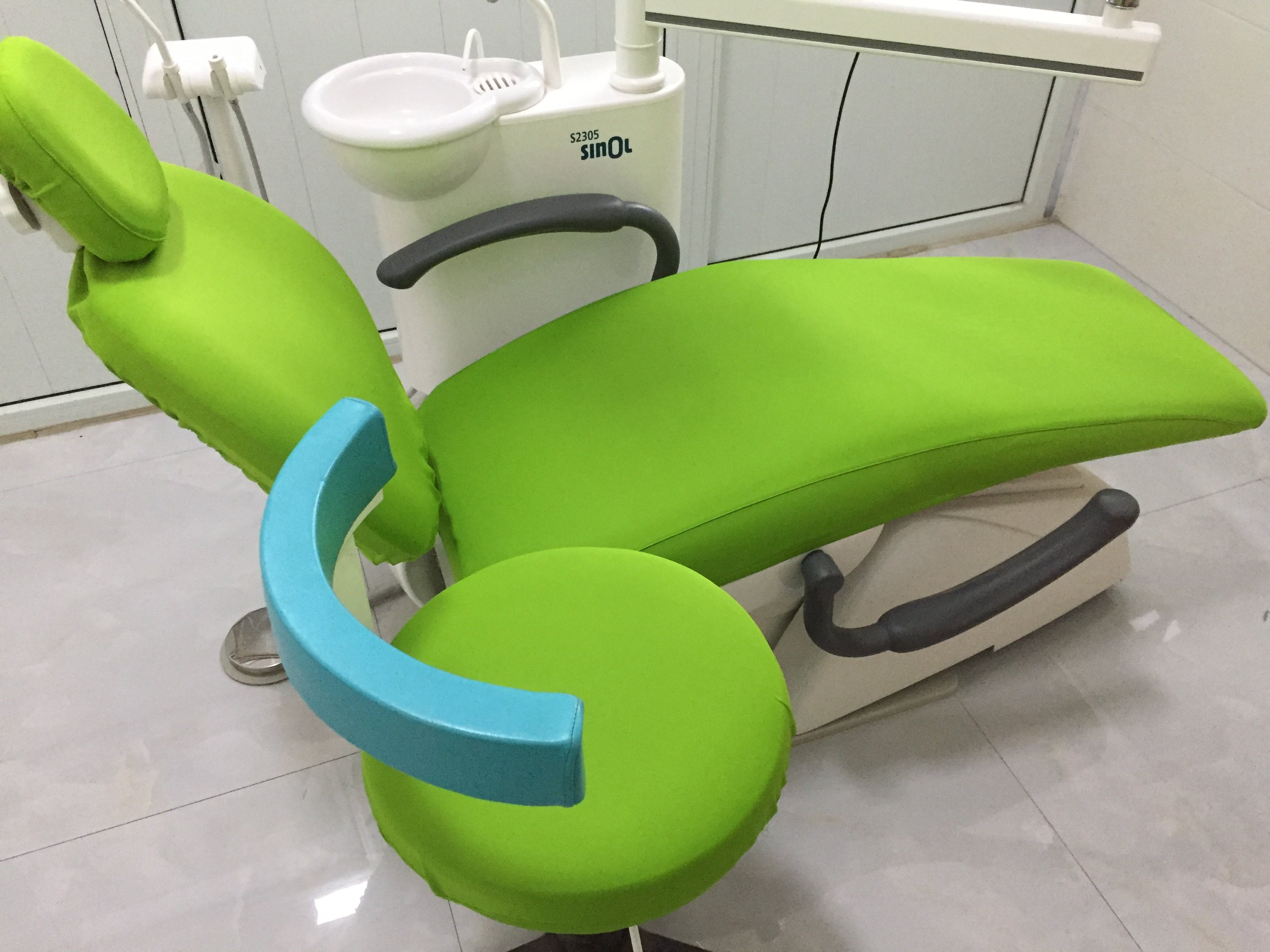 1Set Dental Unit Cover Cloth Dentist Chair Protector Sleeves Washable Thick Clothe Grass Green 4Parts/Set