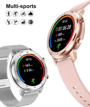 Full Touch Smart Watch Women IP68 Waterproof Bracelet ECG Heart Rate Monitor Sleep Monitoring Sports Smartwatch For Ladies 6