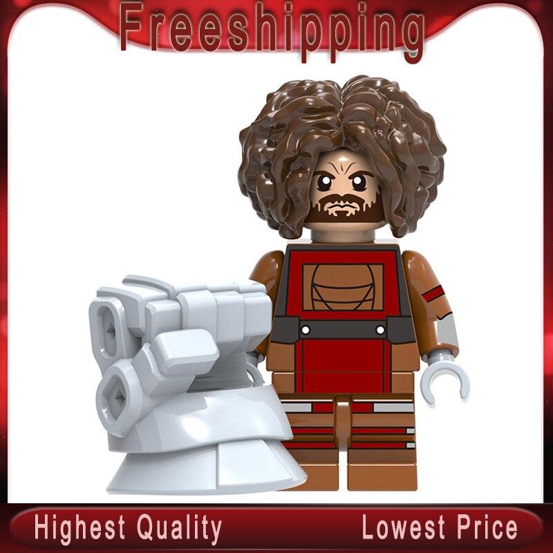 Dwarf Legoed Marvel Super Heroes Crossbone Peter Parker Quicksilver Kingpin Tony Stark Red Skull Building Blocks Toys Xh1369