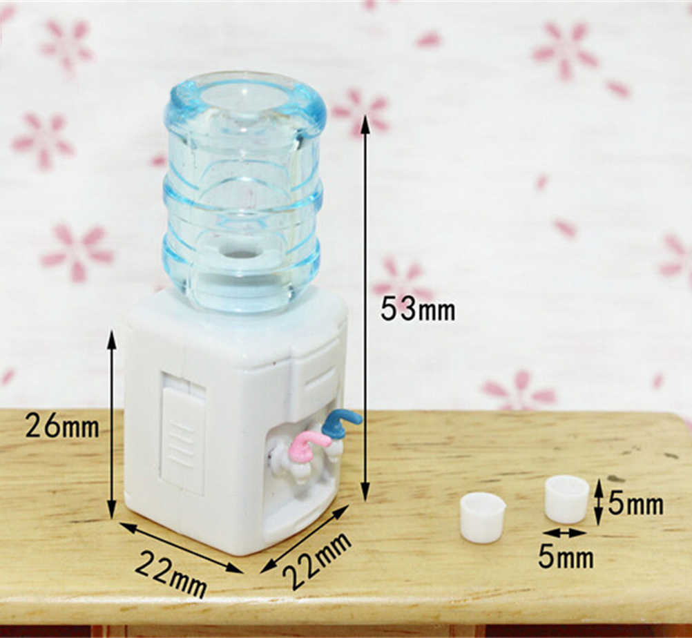 Hot Sale 1:12 Scale Drinking fountains  Mineral Water Bottles Dollhouse Miniature Toy Doll Food Kitchen living room Accessories