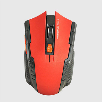 2020 Best Sellers Game mouse 2.4GHz Wireless Mice With USB Receiver Gamer 1600DPI Mouse For Computer PC Laptop Super Slim Mouse - Red, China