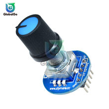 Rotary Encoder Module for Arduino Rotating Potentiometer Knob Cap Digital Controller Module 5V Encoder Controller Switch(China)
