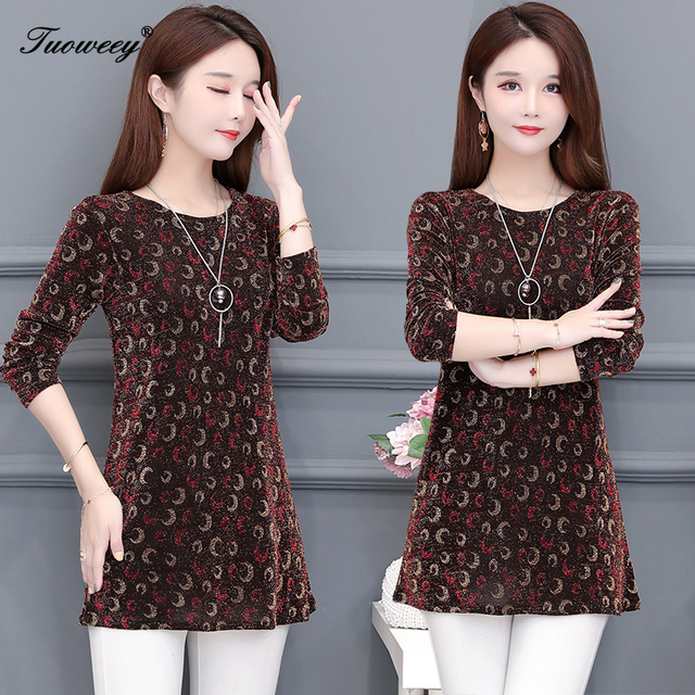 2020 New Women Shirt Floral O-neck Long-Sleeved Printedelegant 5XL Shirt Hot Autumn Spring Female Casual Blouse 3