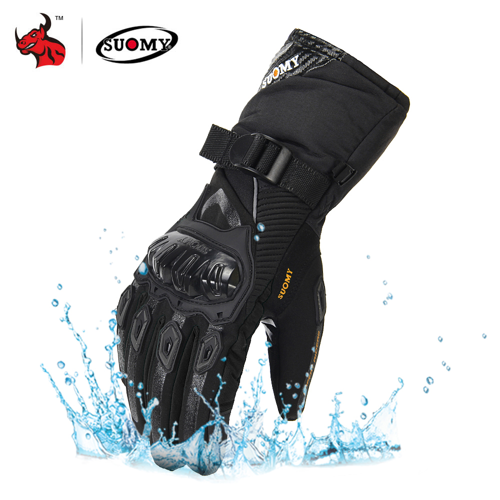SUOMY Motorcycle Gloves Men 100% Waterproof Windproof Winter Moto Gloves Touch Screen Gant Moto Guantes Motorbike Riding Gloves-in Gloves from Automobiles & Motorcycles