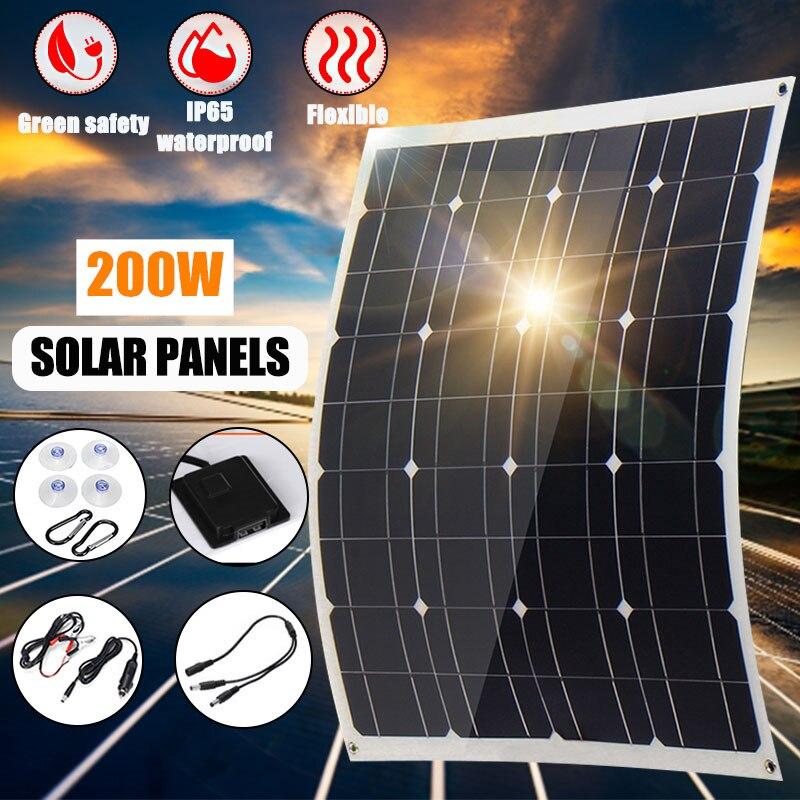 200 Вт AC/DC 12V USB 5V 60x52 см подойдет как для повседневной носки, так Панели солнечные монокристаллические гибкие солнечные элементы Зарядное устр...