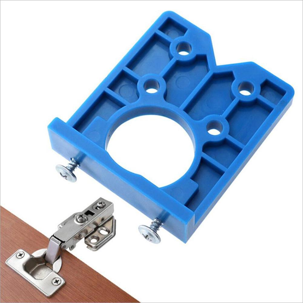 35mm Hinge Hole Drilling Guide Locator Hole Positioning Template Door Cabinets Woodworking Hinge Punching Installation Aid Tools