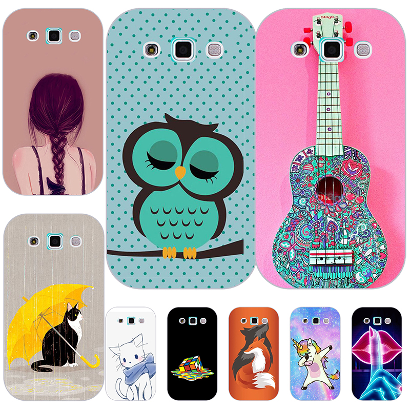 Fashion Soft Silicon Case For <font><b>Samsung</b></font> <font><b>Galaxy</b></font> <font><b>Win</b></font> <font><b>i8550</b></font> Duos I8552 8552 GT-i8552 i8558 Print Back Cover Cartoon Patterned Shell image