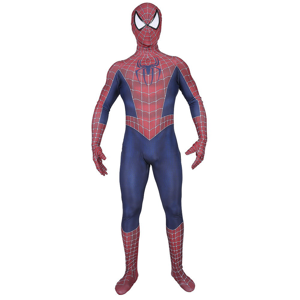 Spider-Man 3 Raimi Spiderman Costume Cosplay Superhero Zentai Bodysuit Jumpsuits Halloween Costume spider Suit for Kid Adult Men 4