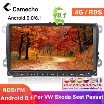 Camecho 2 Din Android 8.1 Car radio GPS Multimedia Video Player 2din Car Autoradio For Volkswagen/VW/Seat/Skoda/Passat/Golf/Polo image